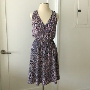 Rebecca Taylor Pink Purple Animal Print Dress sz 0